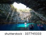 Famous Melissani Lake On...