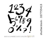 alphabet and numbers   hand... | Shutterstock .eps vector #337755413