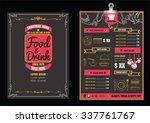 brochure or poster restaurant ... | Shutterstock .eps vector #337761767
