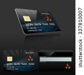 credit card design and templet... | Shutterstock .eps vector #337810007