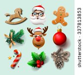 christmas icons  objects ... | Shutterstock .eps vector #337813853