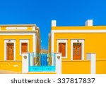 the beautiful doors from an old ... | Shutterstock . vector #337817837