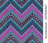 Colored Zigzag Tribal Seamless...