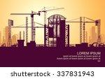 sunrise under construction | Shutterstock .eps vector #337831943