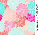 seamless flower pattern in... | Shutterstock .eps vector #337833083