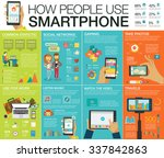 big set infographic with charts ... | Shutterstock .eps vector #337842863