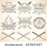 collection of vector... | Shutterstock .eps vector #337847657