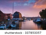 sunset in the klaipeda port ... | Shutterstock . vector #337853357