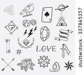 tattoos element  | Shutterstock .eps vector #337865357