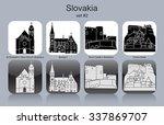 landmarks of slovakia. set of... | Shutterstock .eps vector #337869707
