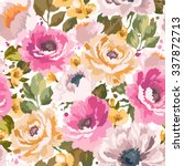 vector pattern with flowers and ... | Shutterstock .eps vector #337872713