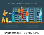 data center with hosting... | Shutterstock .eps vector #337874243