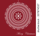 christmas snowflakes ball card | Shutterstock .eps vector #337874537