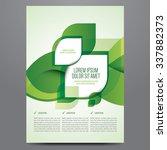 vector business flyer  poster ... | Shutterstock .eps vector #337882373