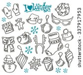 winter set with sketch holidays ...