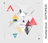 abstract modern geometric... | Shutterstock .eps vector #337929833