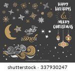christmas hand drawn design... | Shutterstock .eps vector #337930247