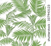 tropical palm leaves seamless... | Shutterstock .eps vector #337943123