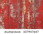 red rustic reclaimed wooden... | Shutterstock . vector #337947647