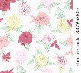vector illustration of floral... | Shutterstock .eps vector #337958807