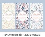 cute vintage doodle floral... | Shutterstock .eps vector #337970633