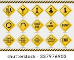 american traffic signs check my ... | Shutterstock .eps vector #337976903
