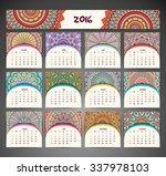 calendar 2016. vintage... | Shutterstock .eps vector #337978103