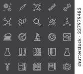 biotechnology icons set  ... | Shutterstock .eps vector #337979483