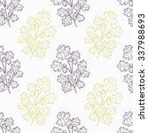 hand drawn cilantro branch...   Shutterstock .eps vector #337988693