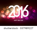 happy new year 2016 wishes  ... | Shutterstock .eps vector #337989227
