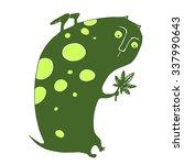 vector spotted green monster... | Shutterstock .eps vector #337990643