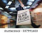 walking shopper with black