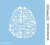 creative human brain with... | Shutterstock .eps vector #337999103