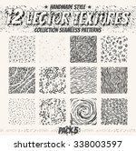 vector set of seamless patterns.... | Shutterstock .eps vector #338003597