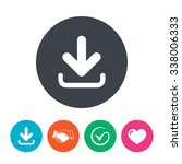 download icon. upload button.... | Shutterstock .eps vector #338006333