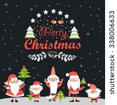 funny santa clauses.merry... | Shutterstock .eps vector #338006633