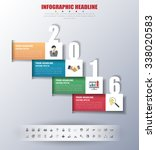 2016 timeline infographics with ... | Shutterstock .eps vector #338020583
