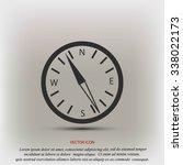 compass vector | Shutterstock .eps vector #338022173
