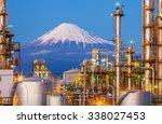 mountain fuji and japan...   Shutterstock . vector #338027453
