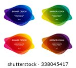 set of vector colorful round... | Shutterstock .eps vector #338045417