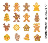 set of flat vector icons of... | Shutterstock .eps vector #338060177