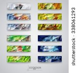 color banners set with... | Shutterstock .eps vector #338061293