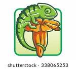 chameleon logo icon vector...   Shutterstock .eps vector #338065253