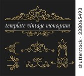 templates monograms for various ... | Shutterstock .eps vector #338065493