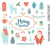 merry christmas decoration... | Shutterstock .eps vector #338070287