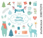 merry christmas decoration... | Shutterstock .eps vector #338070293
