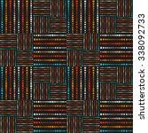 color  vector seamless pattern... | Shutterstock .eps vector #338092733