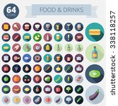 flat design icons for food ...