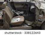 car completely destroyed with... | Shutterstock . vector #338122643