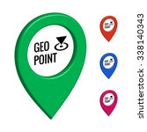 geographic point map icon... | Shutterstock .eps vector #338140343